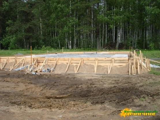 Возведение первых домов Фундамент №2