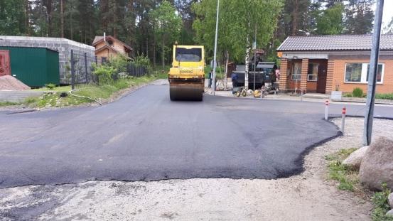 Асфальтовая дорога в Солнечном.